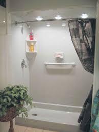 Fiberglass Bathroom Showers Bathroom Bathroom Fiberglass Shower Pan Shower With Curtain