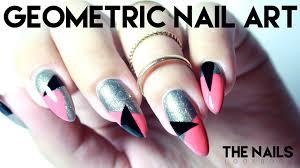 tutorial geometric nail art youtube