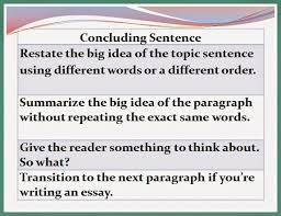 seventh grade lesson concluding sentences betterlesson