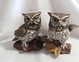 Home Interiors Figurines by Home Interior Owls Etsy