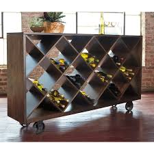 shelf console table with angled open compartments u0026 industrial