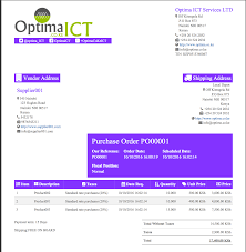 professional report templates odoo apps purchase order sample o