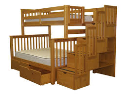 White Twin Over Full Bunk Bed With Stairs Bedz King Stairway Twin Over Full Bunk Bed With Trundle U0026 Reviews