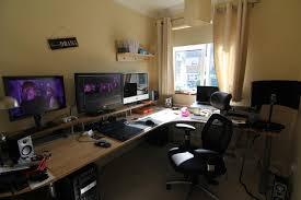 Big Gaming Desk Wooden L Shaped Gaming Desk Creative Desk Decoration