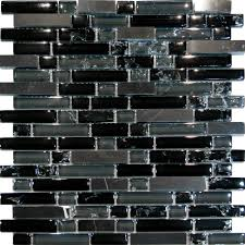 Mosaic Tile Backsplash Kitchen Black Glass Mosaic Tile Backsplash