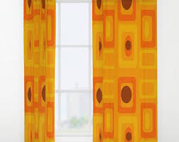 retro curtains etsy