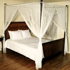 Black Canopy Bed 4 Post Canopy Bed Curtains Genwitch