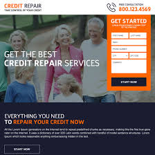 credit repair landing page design template to boost your credit