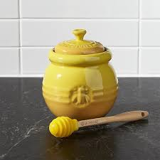 honeypot wedding registry le creuset honey pot with dipper in food storage reviews crate
