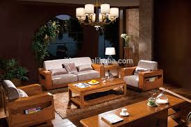 Modern Home Living Room Furniture Wooden Sofa Set Designs - Wooden sofa set design