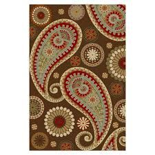 Paisley Area Rugs Collection Paisley Design Brown 5 Ft X 6ft 6in Non Skid