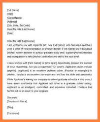 employer recommendation letter recommendation letter for student