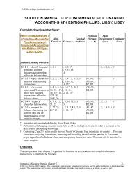 solution manual for fundamentals of financial accounting 4th