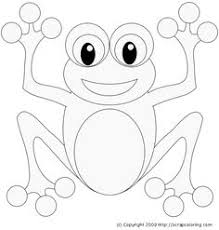 free printable happy frog picture to color children u0027s fun
