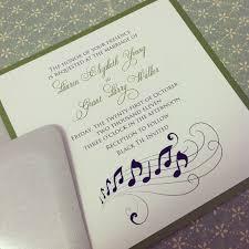 Graduation Invitations Cards Music Note Romantic Wedding Invitation Suite
