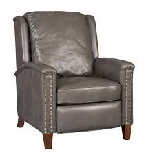Leather Recliners South Africa High Leg Leather Recliner Chair In Charcoal Gray By Hooker