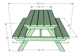 Building Plans For Small Picnic Table by Plans For Building A Children U0027s Picnic Table Genuine Woodworking