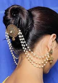 hair accessories for indian weddings bridal hair decoration with pearls pin type choti design indian