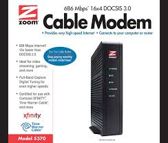 xfinity online light not on amazon com zoom 16x4 cable modem 686 mbps docsis 3 0 model 5370
