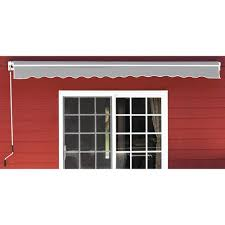 Menards Awnings Backyard Creations 12 U0027 W X 10 U0027 Projection Gray Retractable Patio