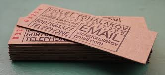 slim business cards print and grain letterpress