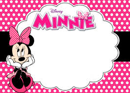 free printable minnie mouse birthday party invitations choice