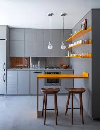 gray small kitchen ideas yellow wallmount island yellow floating