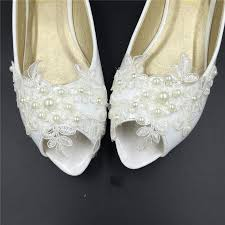 wedding shoes size 9 bridal open toe ballet flats wedding shoes all sizes peep toe