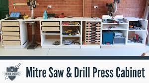 086 mitre saw u0026 drill press cabinets youtube