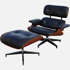 eames lounge chair and ottoman free 3d model