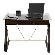 Desk With Computer Storage Realspace Merido Writing Desk With Storage Espressosilver By