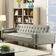 Leather Sleeper Sofa Orren Ellis Navi Faux Leather Sleeper Sofa U0026 Reviews Wayfair Ca