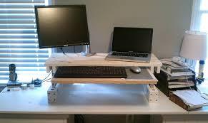 desk diy stand up desk stand or sit computer desk ikea standsit