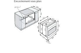 profondeur meuble cuisine four encastrable faible profondeur meuble cuisine profondeur