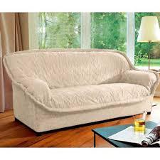 housse de canapé trois places housse de canapé 3 places faux uni agathe écru frais de