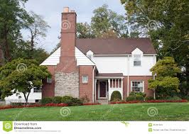 house with large fireplace chimney stock photo image 45701043