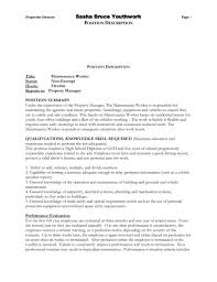 Sample Resume For Handyman Position by Cover Letter Resume Example 6 Top Job Search Materials For