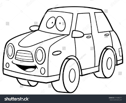 cartoon car drawing vector illustration cartoon car coloring book stock vector
