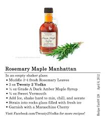 cocktail recipes vodka rosemary maple manhattan twenty 2 vodka america u0027s most awarded