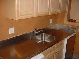 stainless steel countertop with built in sink 16 ga stainless steel countertop with integrated backsplash and