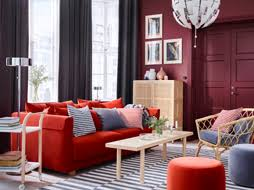 Living Room With Orange Sofa Living Room Furniture Inspiration Ikea