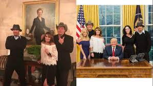 Oval Office Clock by Kid Rock Ted Nugent Visit President Donald Trump At White House