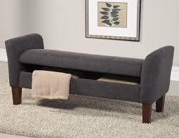 ottoman bench with arms grey fabric storage bench steal a sofa furniture outlet los angeles ca