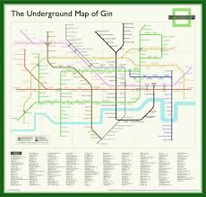 underground map underground map of gin poster the gin club shop