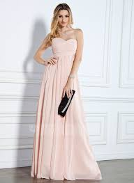 empire sweetheart floor length chiffon evening dress with ruffle