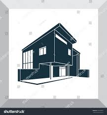 House Silhouette by Vector Image Modern Trendy Design Private Stock Vector 365508095