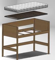 mettre sur le bureau lit 190x90 à 1m50 de hauteur histoire de mettre rangements ou