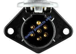 heavy duty vehicle trailer electrical socket 7 pin weatherproof