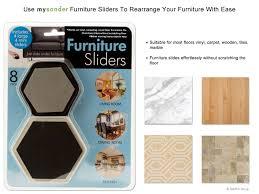mysonder furniture sliders reusable felt pads for easy moving of