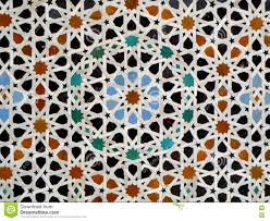 Moroccan Pattern Art Moroccan Wall by Moroccan Style Star Pattern Blue Orange Black Color Tiled Wall In